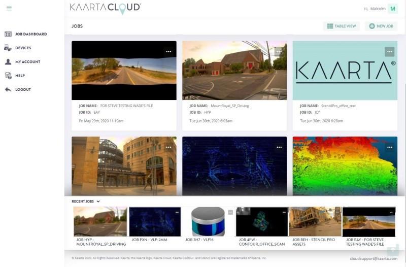 Upload data to Kaarta